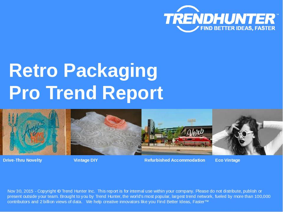 Retro Packaging Trend Report Research