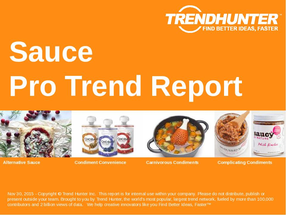 Sauce Trend Report Research