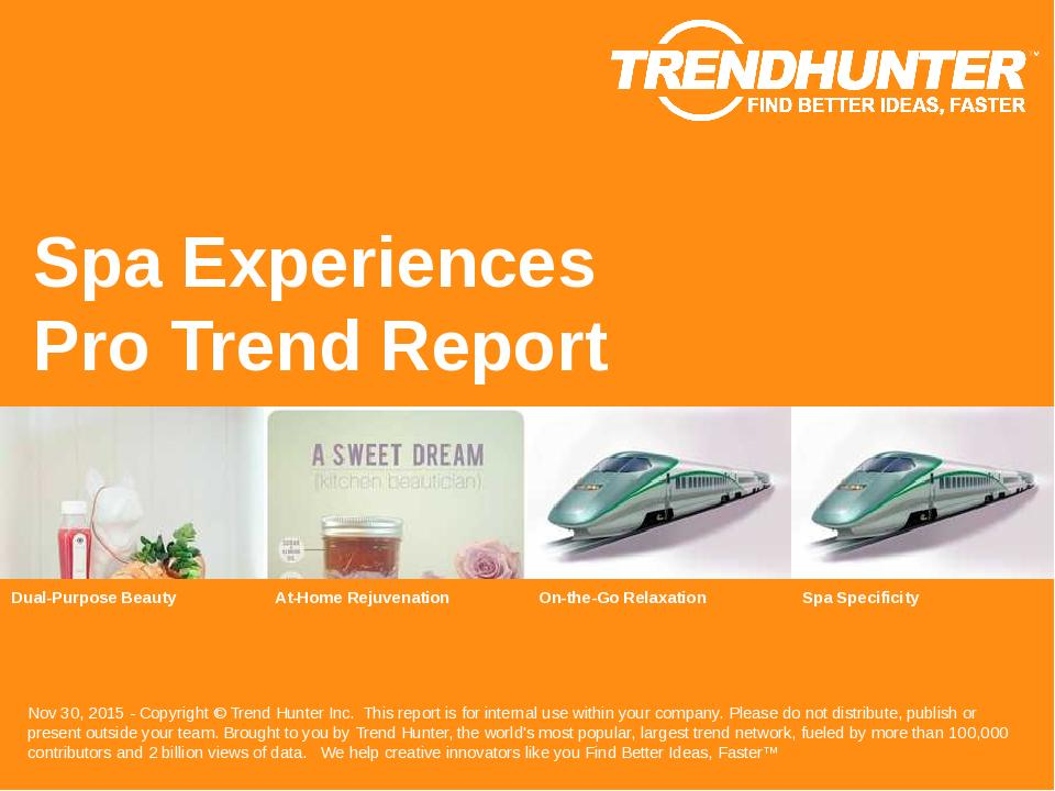 Spa Experiences Trend Report Research