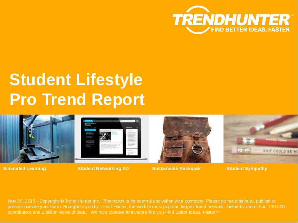 Student Lifestyle Trend Report Research