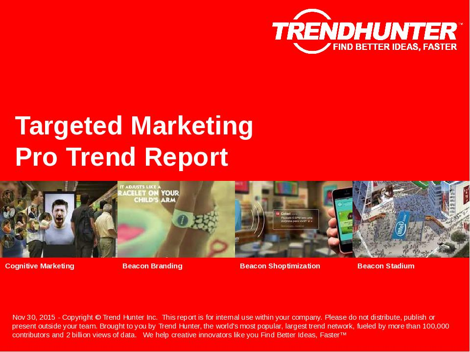 Targeted Marketing Trend Report Research