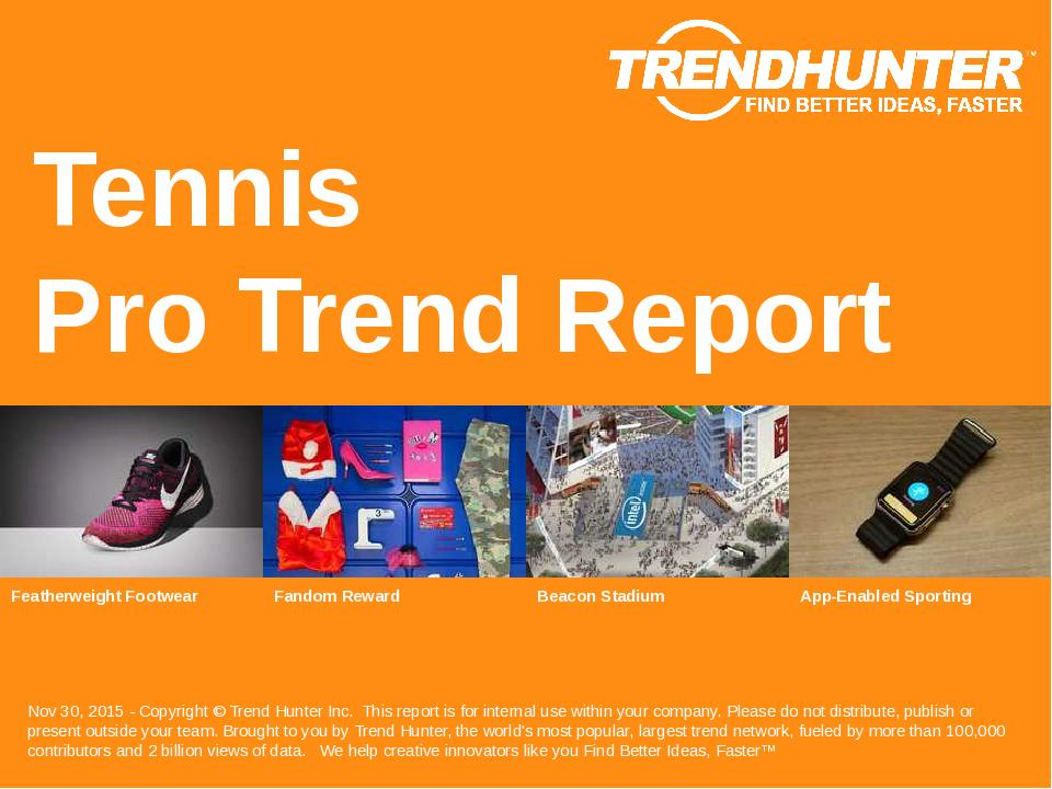 Tennis Trend Report Research