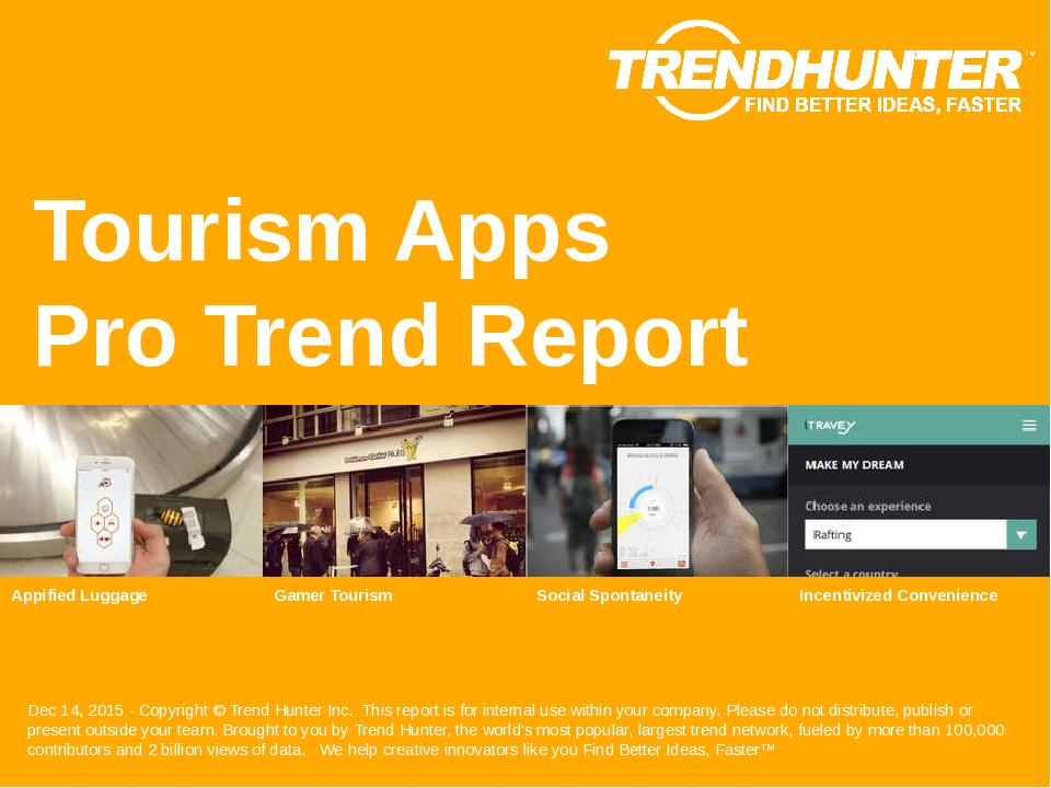 Tourism Apps Trend Report Research