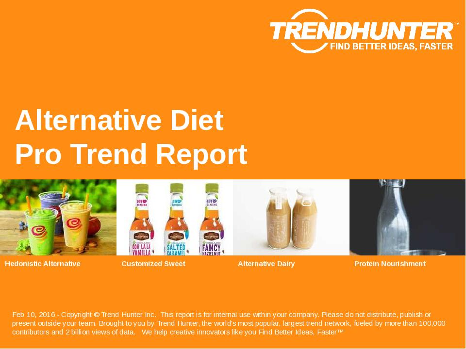 Alternative Diet Trend Report Research