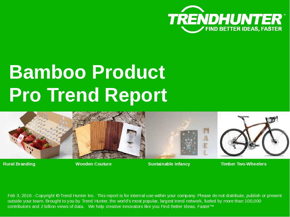 Bamboo Product Trend Report Research