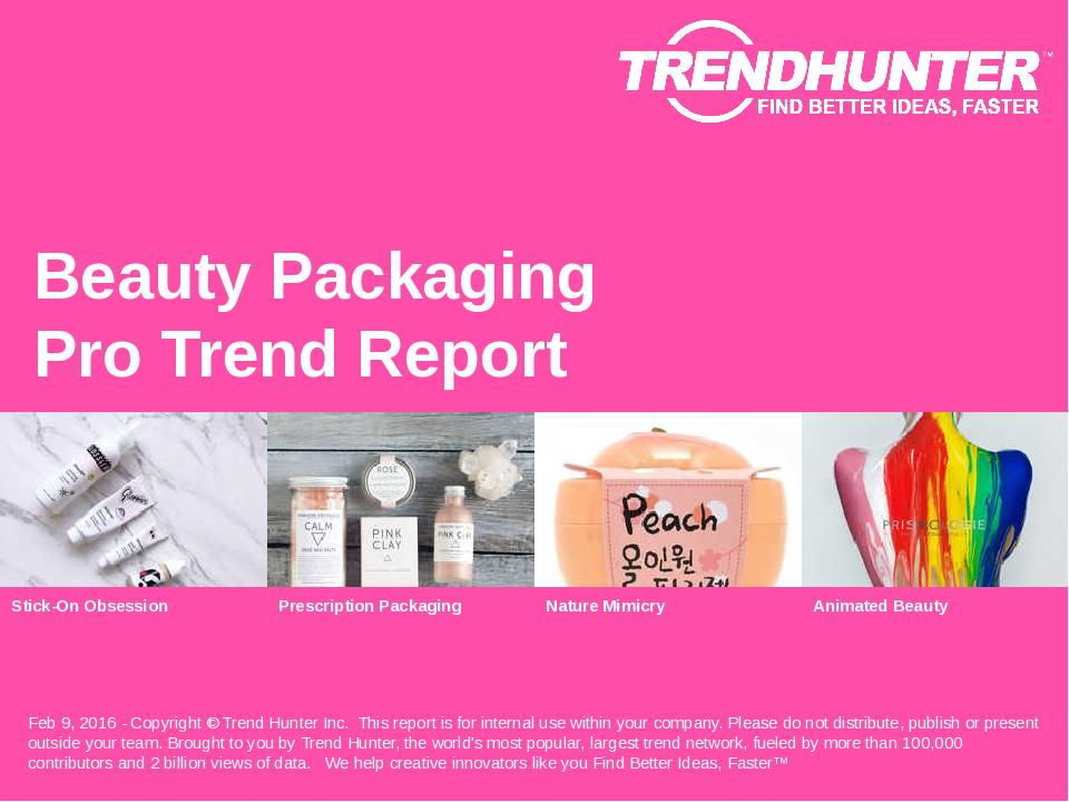 Beauty Packaging Trend Report Research