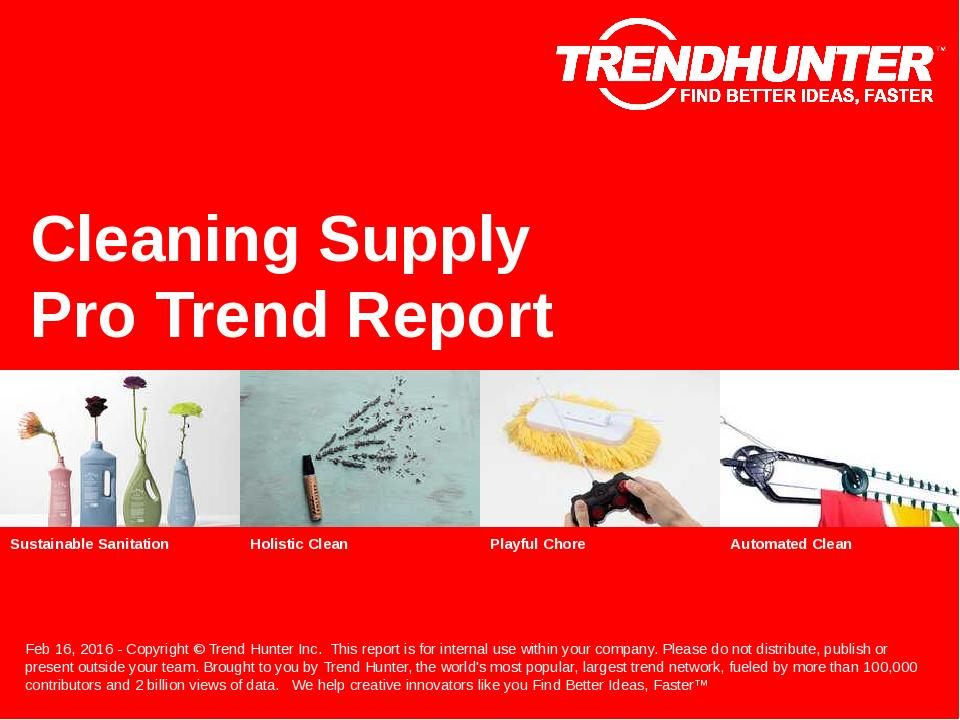Cleaning Supply Trend Report Research