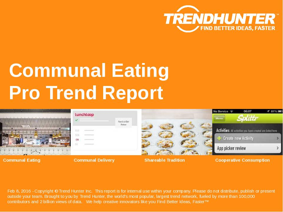 Communal Eating Trend Report Research