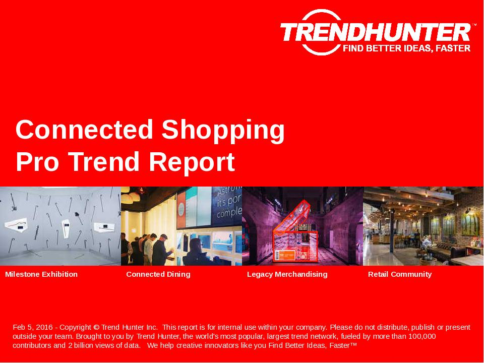 Connected Shopping Trend Report Research