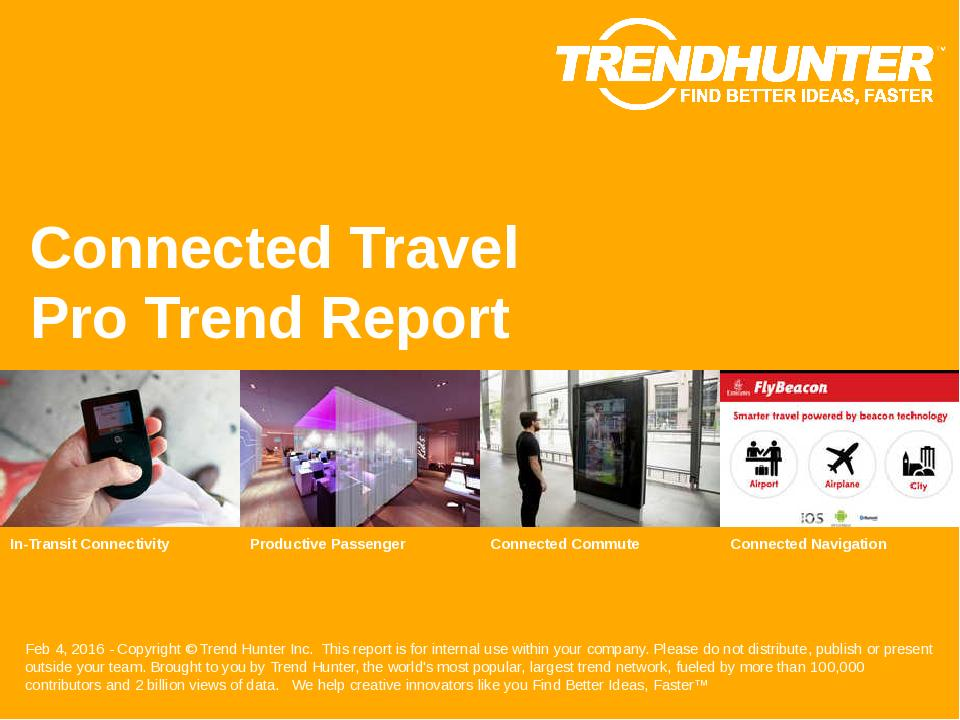 Connected Travel Trend Report Research
