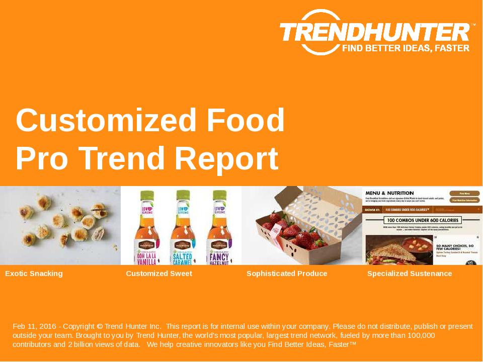 Customized Food Trend Report Research