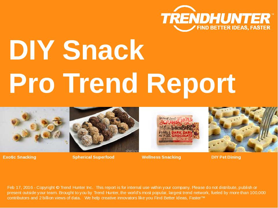 DIY Snack Trend Report Research