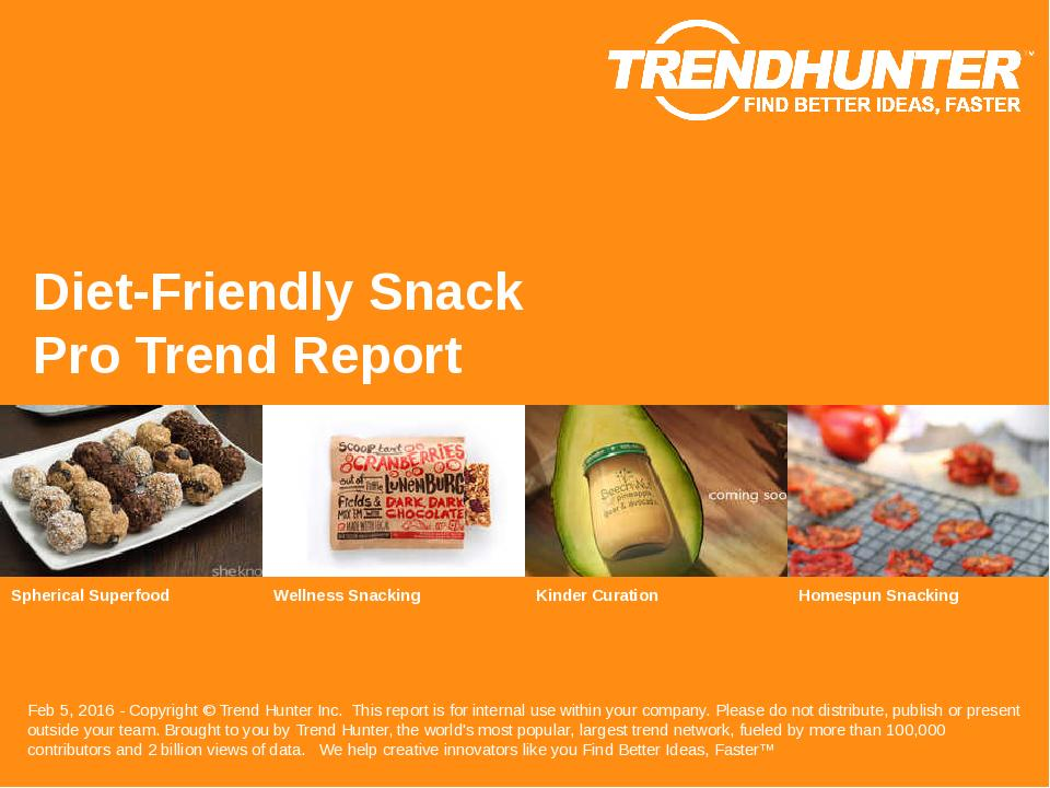 Diet-Friendly Snack Trend Report Research