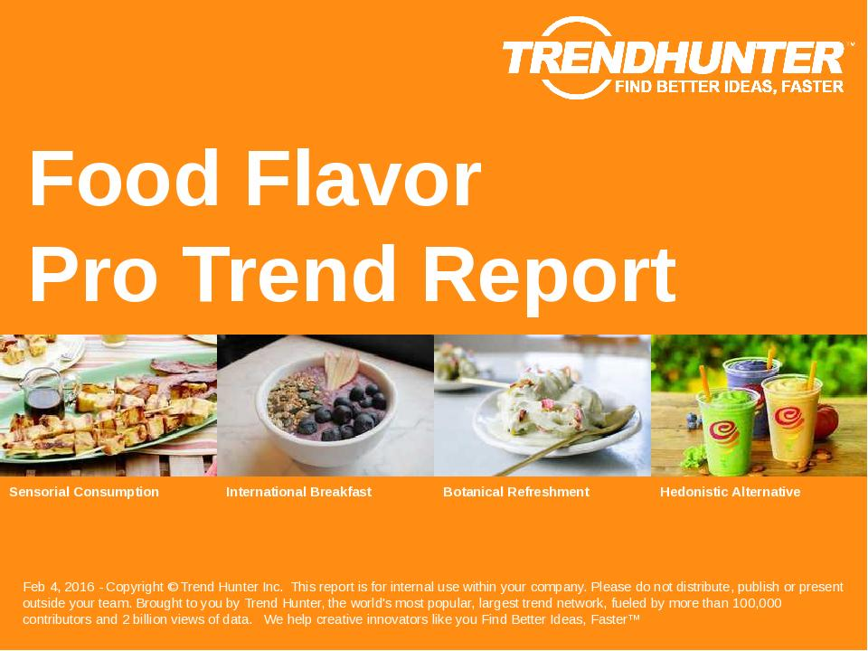 Food Flavor Trend Report Research