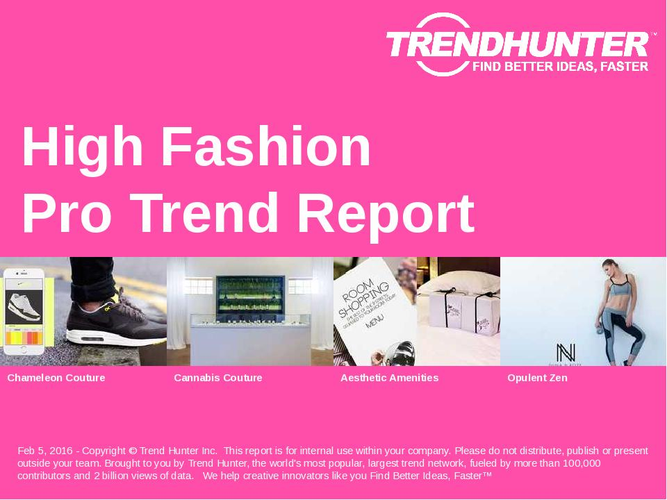High Fashion Trend Report Research