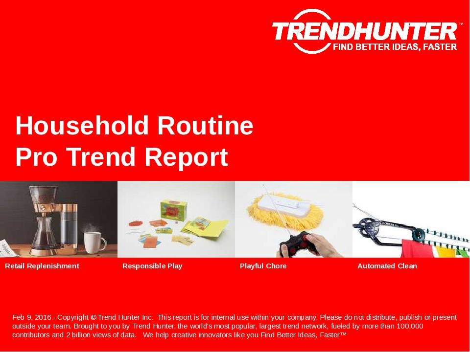 Household Routine Trend Report Research