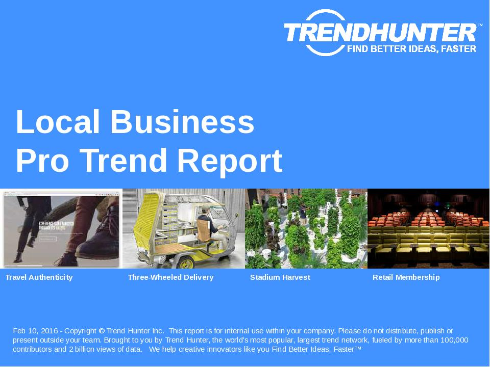 Local Business Trend Report Research