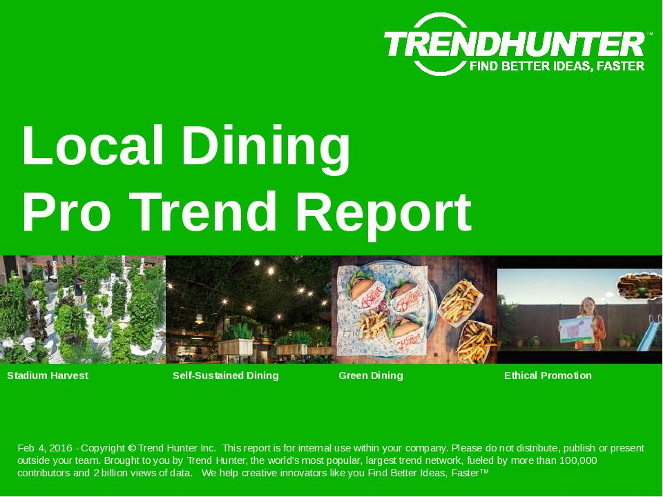 Local Dining Trend Report Research