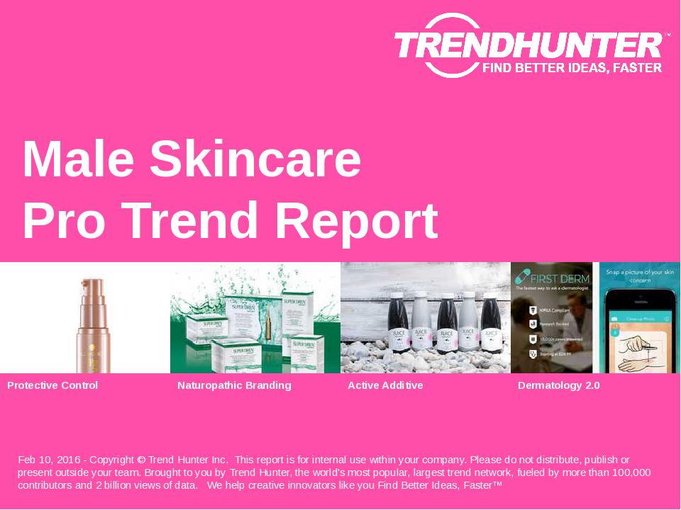Male Skincare Trend Report Research