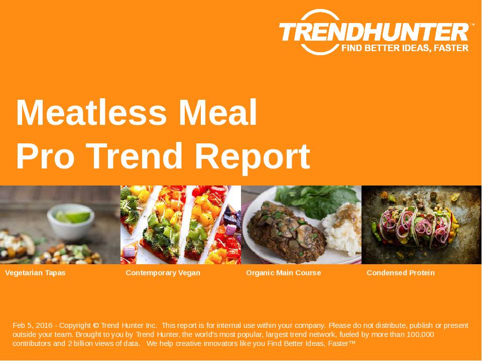 Meatless Meal Trend Report Research