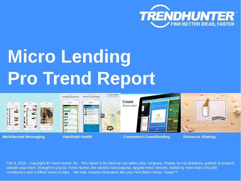 Micro Lending Trend Report Research
