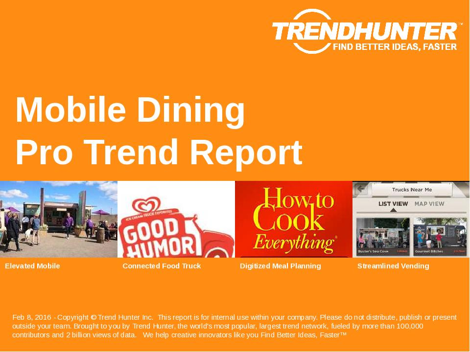 Mobile Dining Trend Report Research