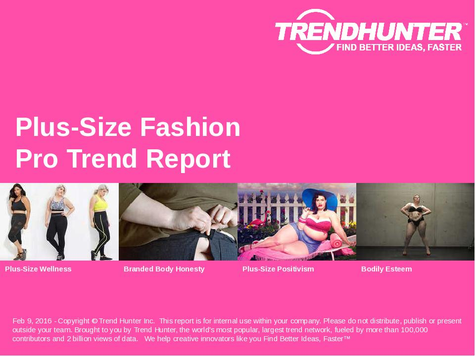 Plus-Size Fashion Trend Report Research