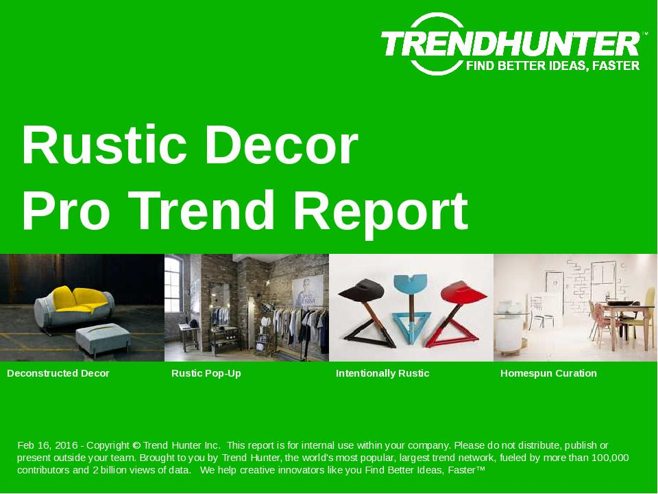 Rustic Decor Trend Report Research
