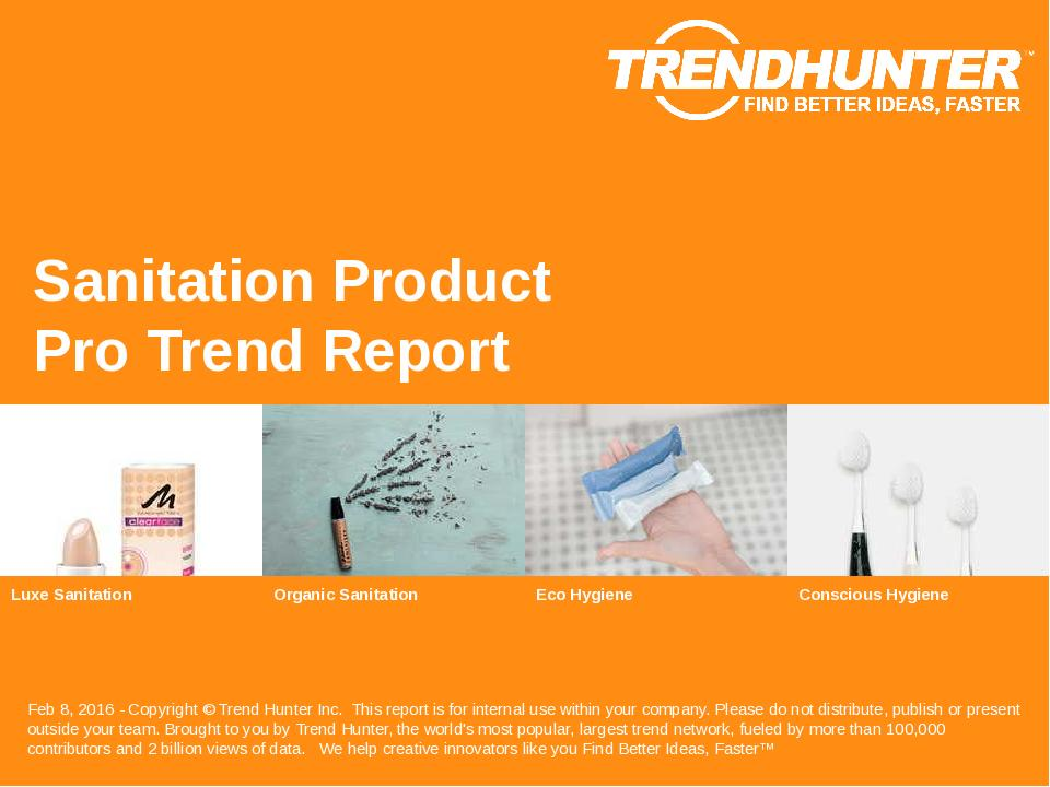 Sanitation Product Trend Report Research