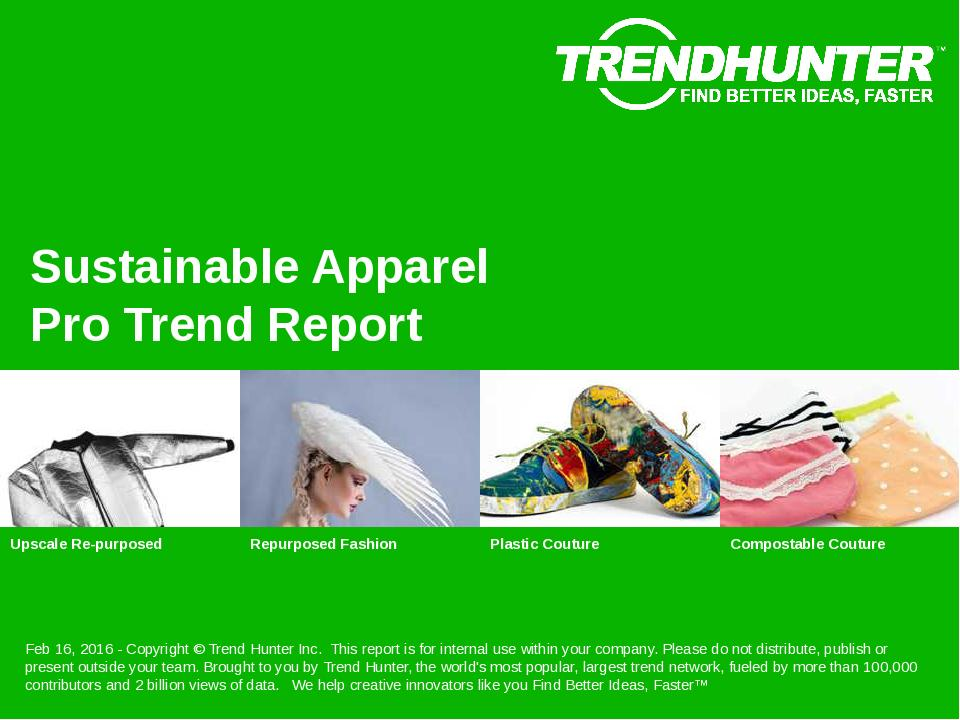 Sustainable Apparel Trend Report Research
