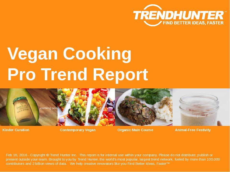 Vegan Cooking Trend Report Research