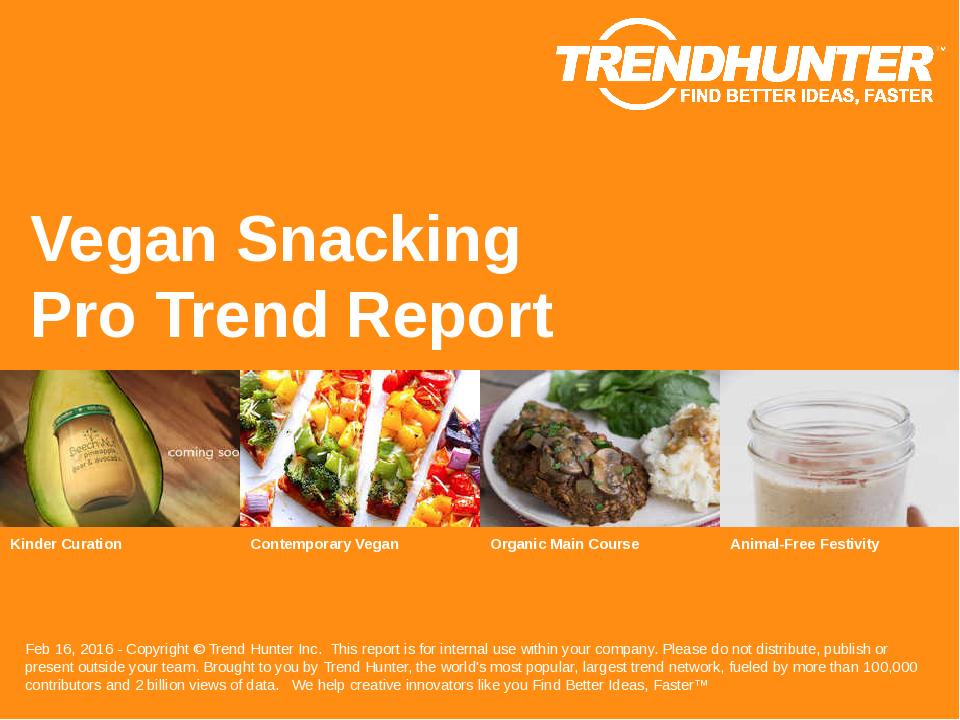 Vegan Snacking Trend Report Research