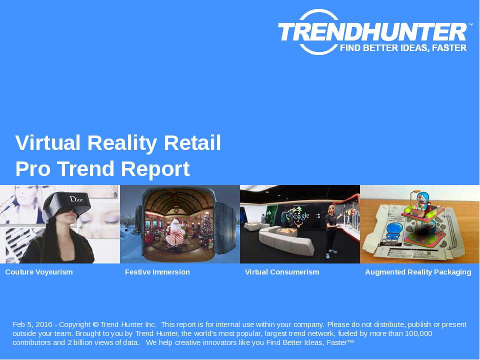 Virtual Reality Retail Trend Report Research