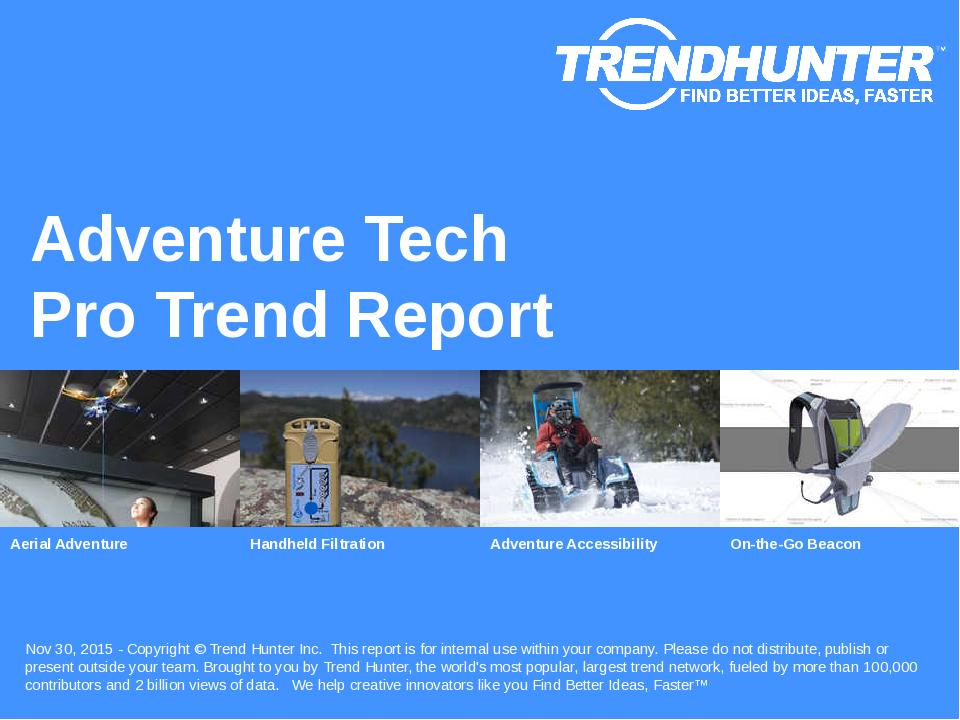 Adventure Tech Trend Report Research