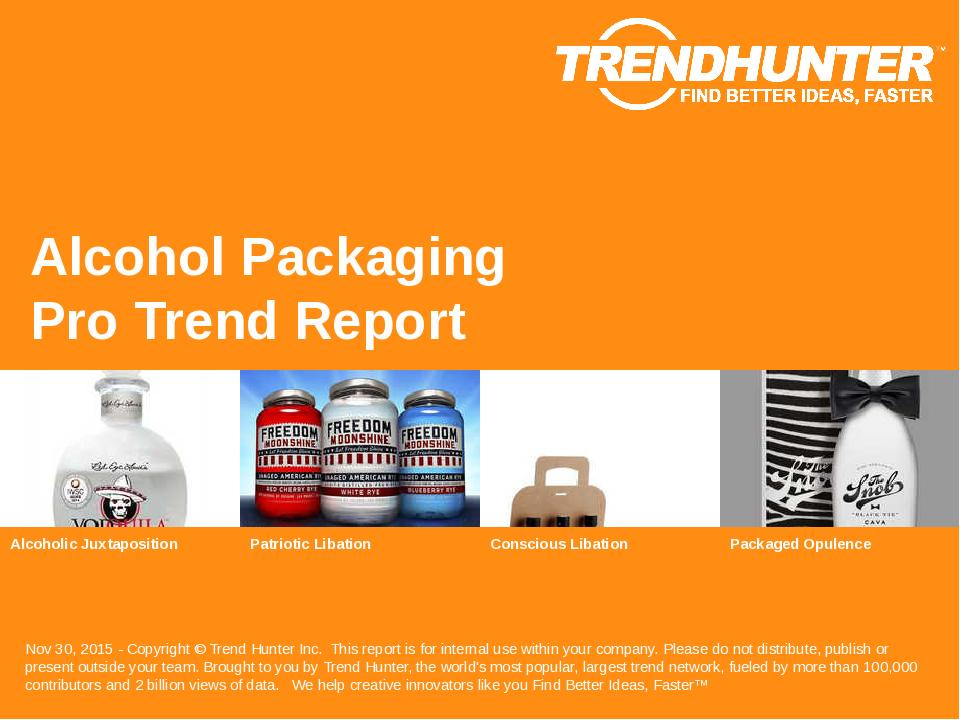 Alcohol Packaging Trend Report Research