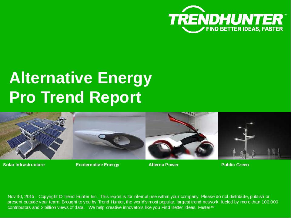 Alternative Energy Trend Report Research