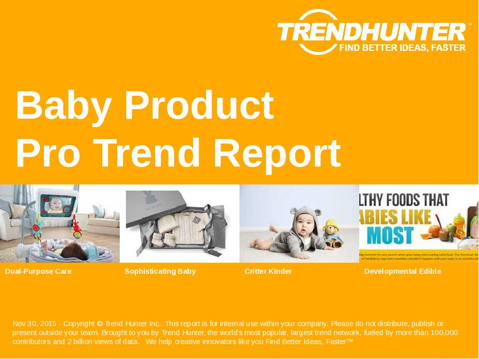Baby Product Trend Report Research