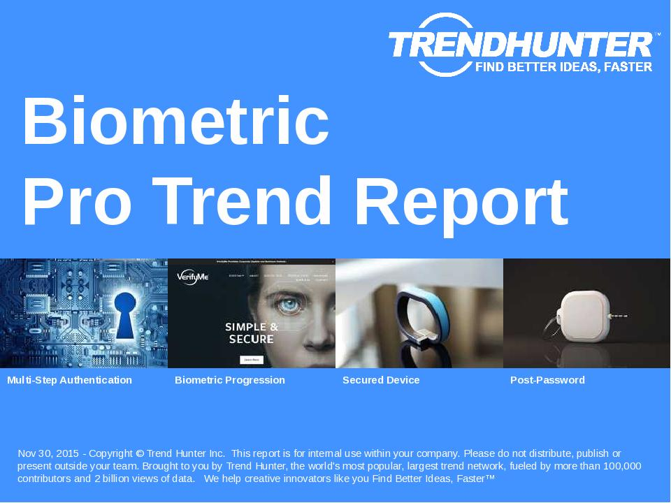 Biometric Trend Report Research