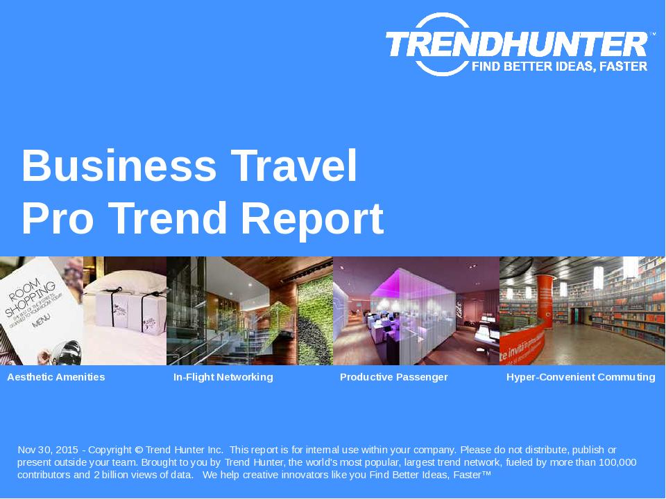 Business Travel Trend Report Research