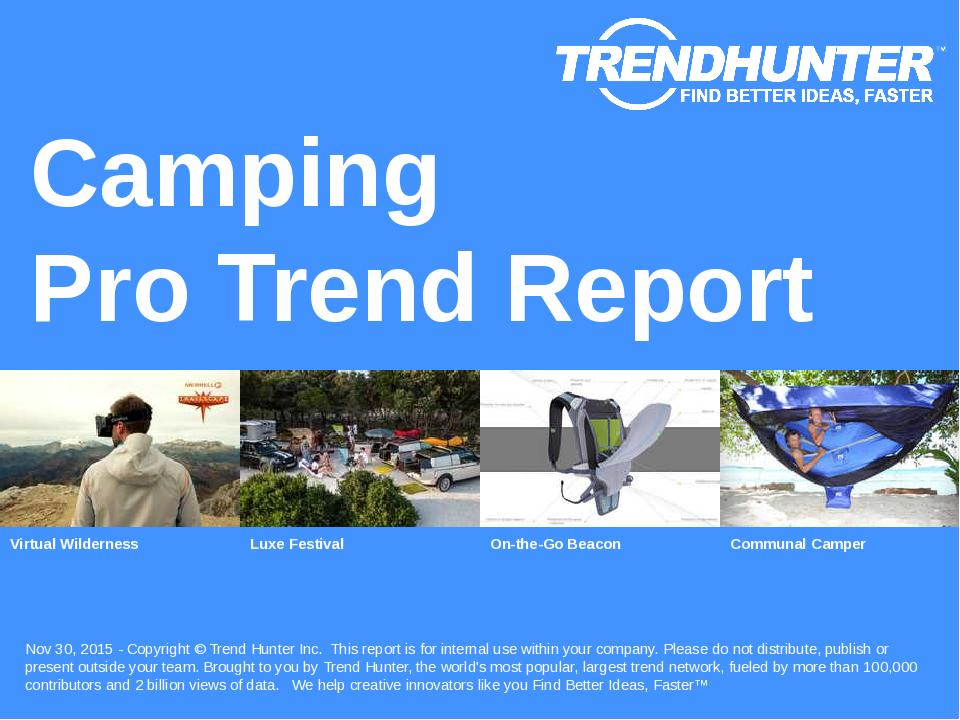 Camping Trend Report Research