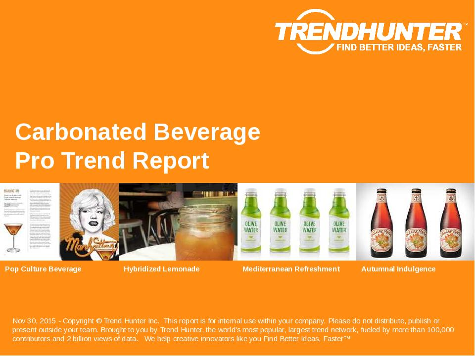 Carbonated Beverage Trend Report Research