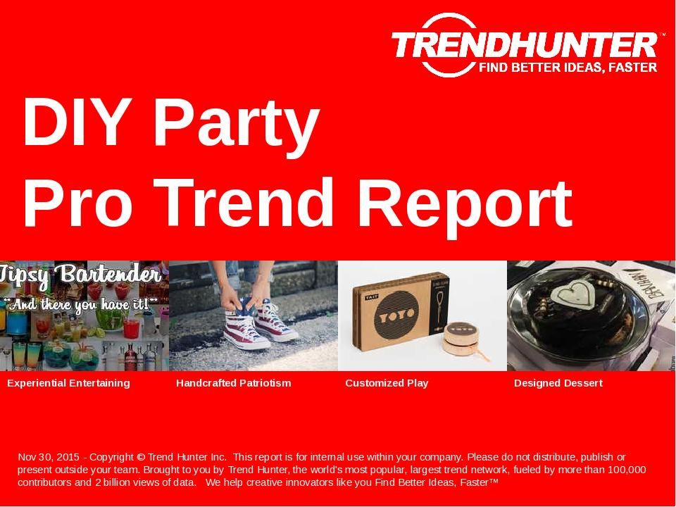 DIY Party Trend Report Research