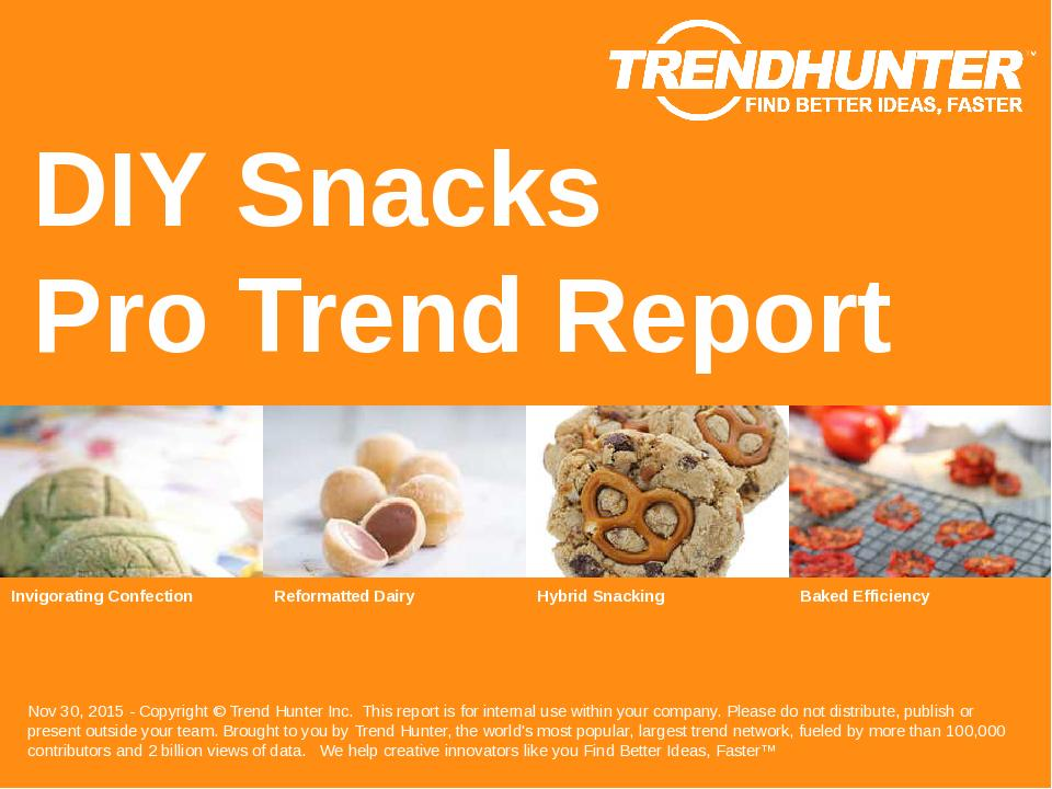 DIY Snacks Trend Report Research