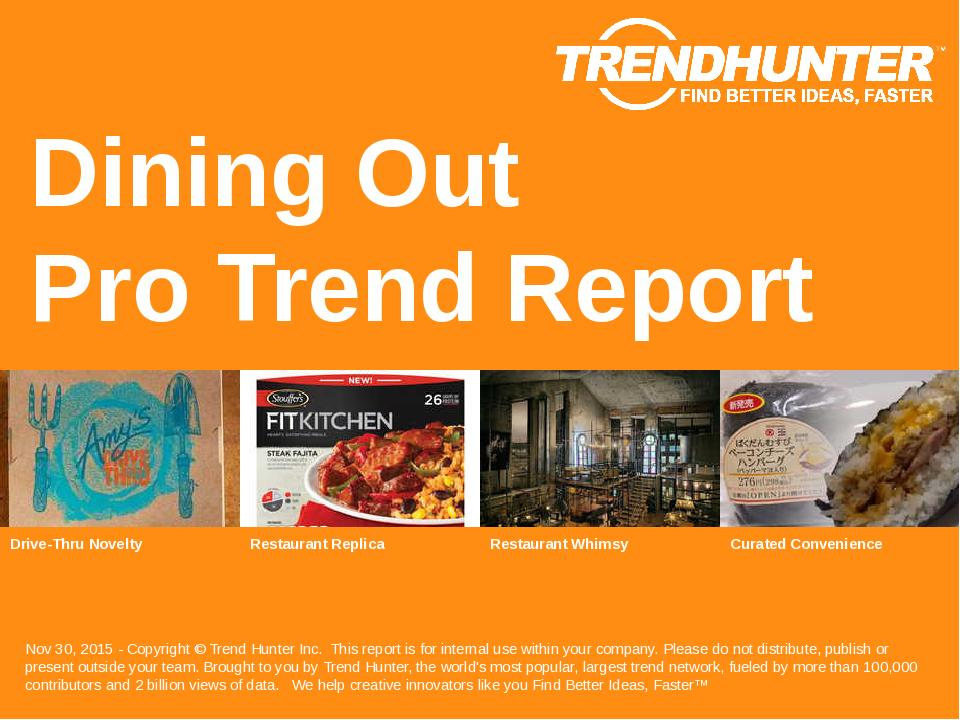 Dining Out Trend Report Research