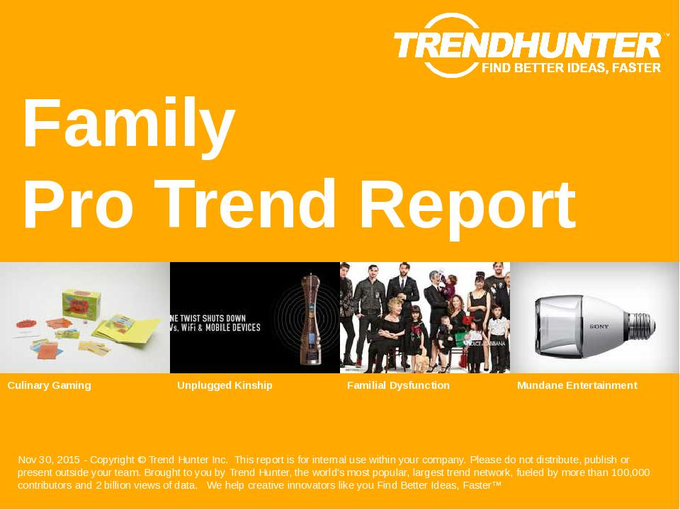 Family Trend Report Research