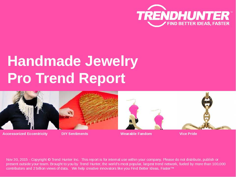 Handmade Jewelry Trend Report Research