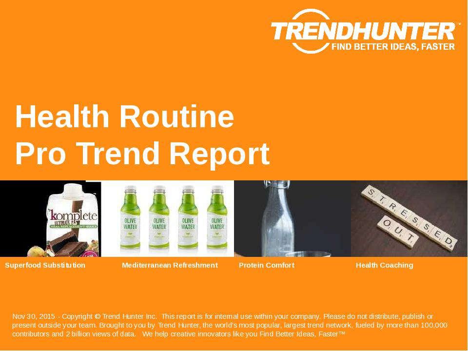 Health Routine Trend Report Research