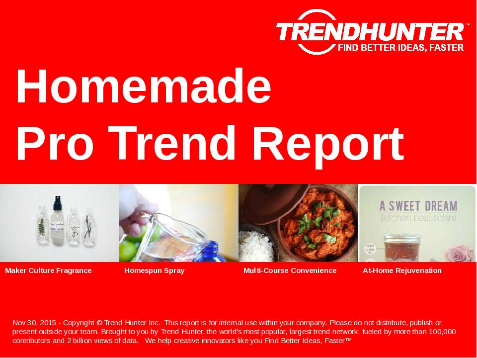 Homemade Trend Report Research