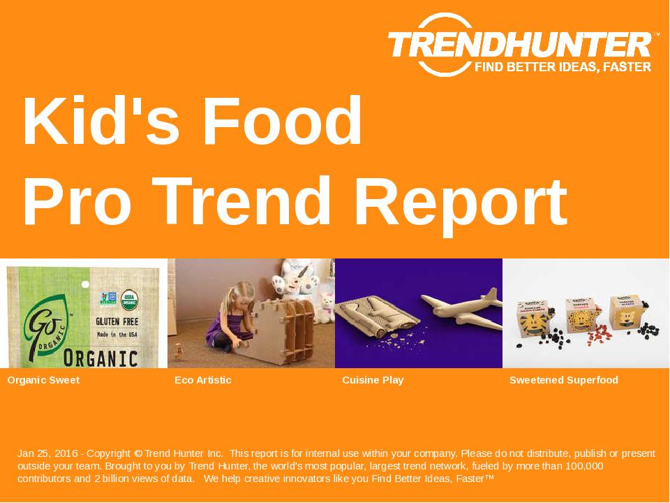 Kids Food Trend Report Research