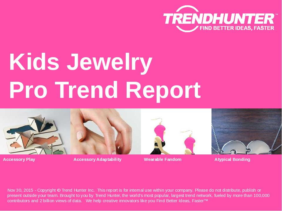 Kids Jewelry Trend Report Research